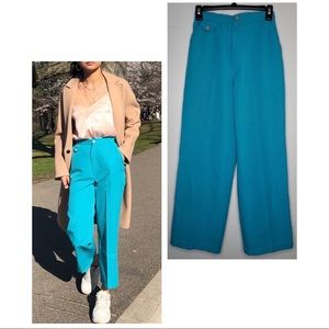 Pants - VINTAGE Turqouise blue pants